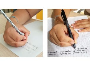 La rééducation de l'écriture chez l'adulte passe aussi par un changement de tenue de crayon et de posture.