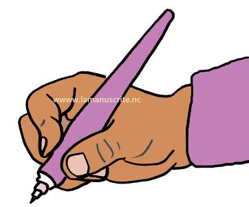 Pour éviter une écriture douloureuse, une prise mature du stylo est indispensable: les trois premiers doigts sont mobiles et tiennent souplement le stylo.